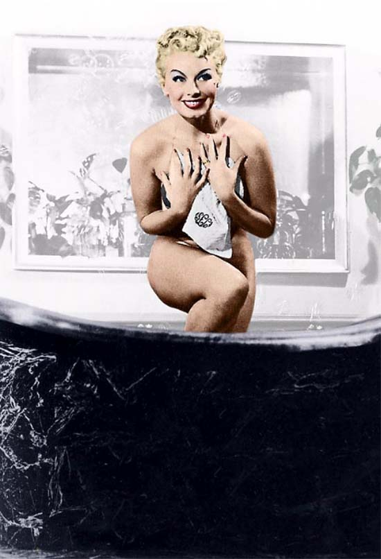 Lili St. Cyr in her famous bathtub