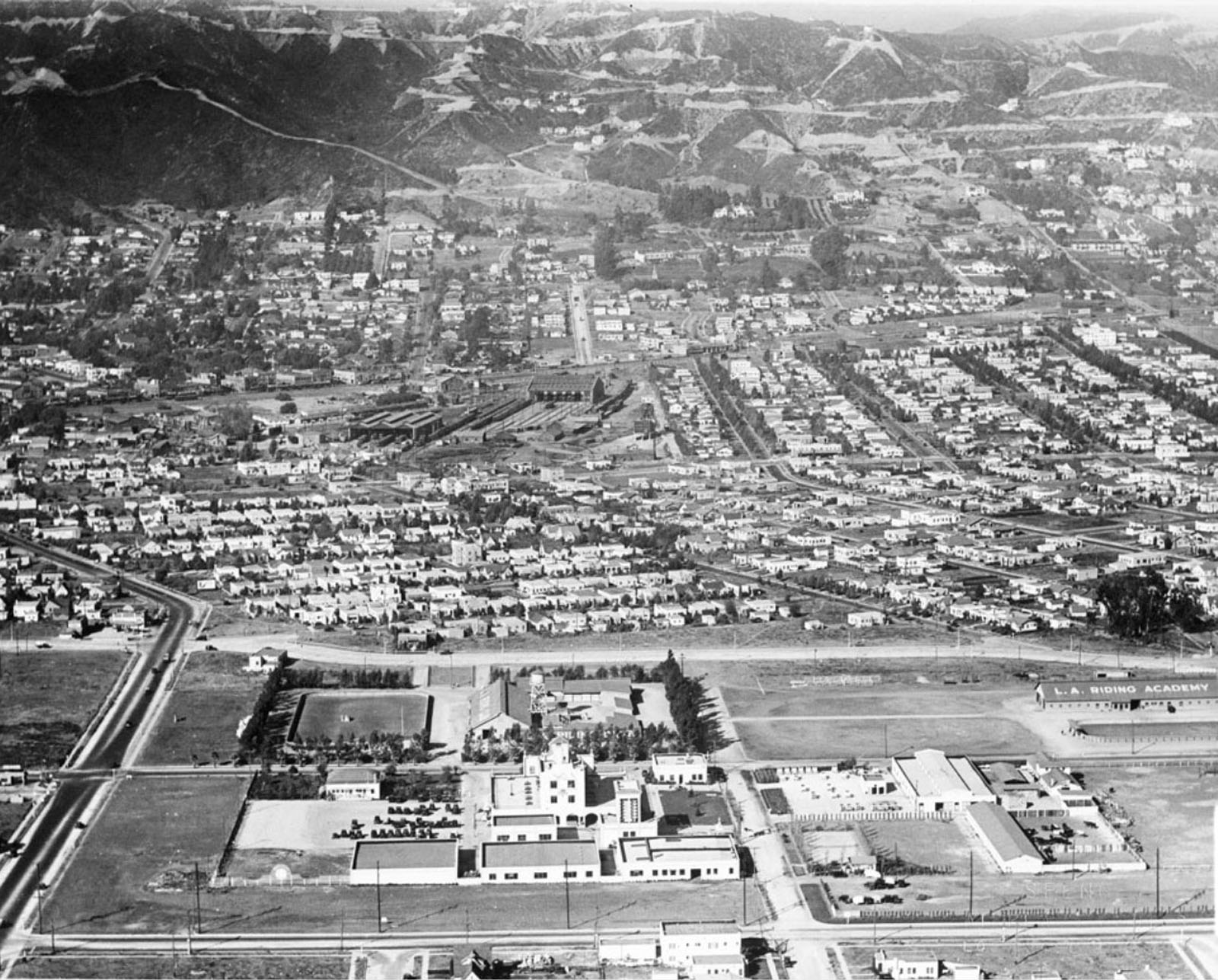 Aerial View Of 1930s West Hollywood Playground To The Stars