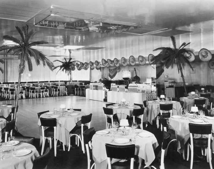 The interior of Cafe Trocadero in a photo dated 1937