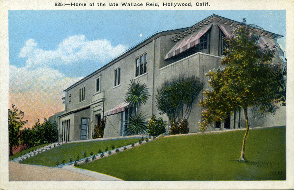 Early Tour Bus Stop Home Of Wallace Reid Silent Era